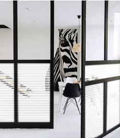 Reflectiv INT 212 White stripes of 13mm breedte 152cm
