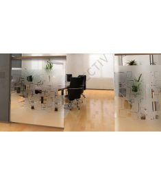 Reflectiv INT 468 Frosted squares breedte 152cm