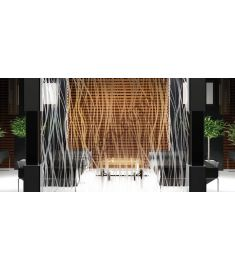 Reflectiv INT 510 Frosted thin vertical curves breedte 152cm