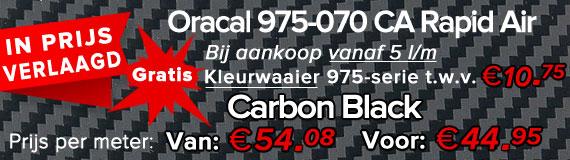Oracal 975-070 RA Carbon Black